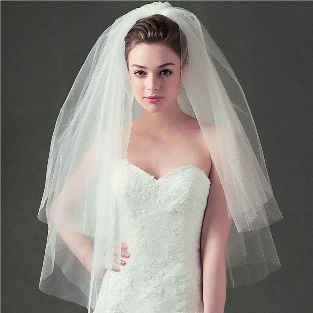 Aluinn Comb Veil Wedding Veil Bridal Veil Two Tier Fingertip Veil Raw Edge Veils Tulle Veil Bridal Accessory