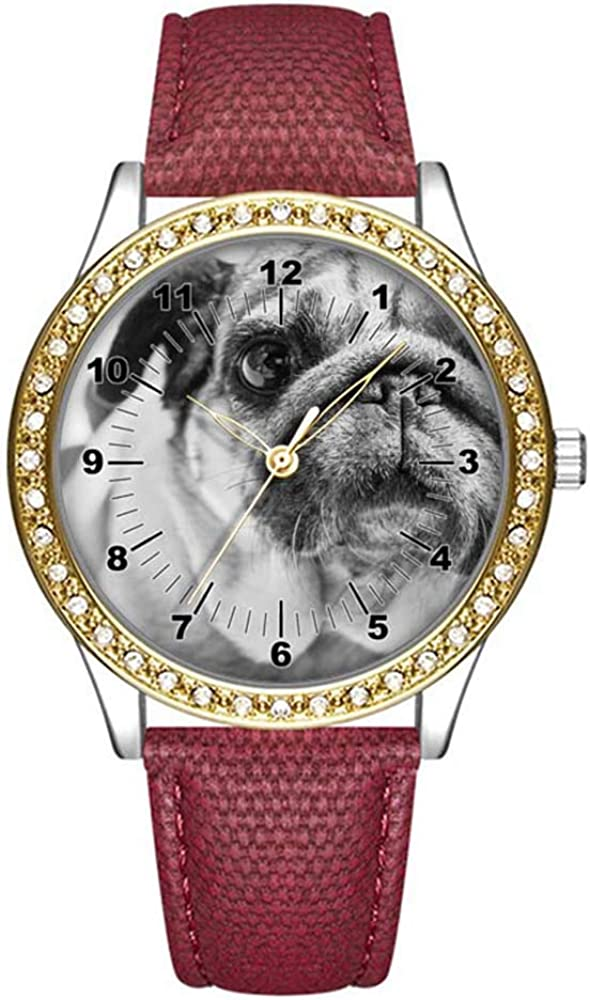 Diamond Womens Max 75% OFF Leather Store Watch Fashion Wom Gold Casual for Watches
