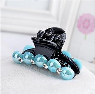 Osize 美しいスタイル エレガントなファッションシミュレーションパールヘアピンヘアクリップヘアアクセサリーヘアスタイリングツール(ブルー)