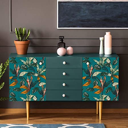 Películas adhesivas para muebles y paredes, Medidas 45x200 cm, Rollos de papel adhesivo de alta resolución, Envoltura de muebles Azulejos Mesas Armarios Cocinas
