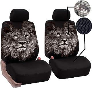 Cubierta del asiento delantero - Asiento de una pieza con respaldo alto - Cubierta de malla para SUV de camión de vehículo (Compatible con Airbag),Lion