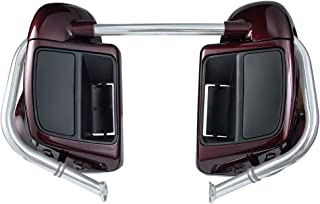 Advanblack Twisted Cherry Lower Vented Fairings Kit with Glove Box Fit for Harley Touring Road Glide Street Glide Road King Special 2018 2019
