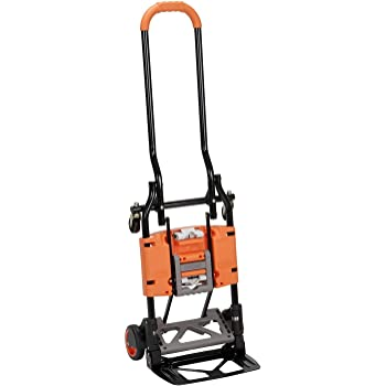 Cosco Shifter 300-Pound Capacity Multi-Position Folding Hand Truck and Cart, Orange - 12222BGO1E