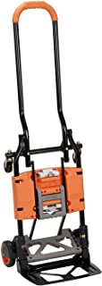 Cosco Shifter 300-Pound Capacity Multi-Position Folding Hand Truck and Cart, Orange..