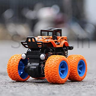 SaleOn™ 4WD Mini Monster Trucks Friction Powered Cars for Kids Big Rubber Tires(Assorted Color/Design)-869
