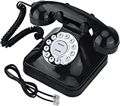 Vintage Landline Phone Retro Wire Landline Corded Telephone Old Fashioned Desk Telephone Replacement for Home and Office D...