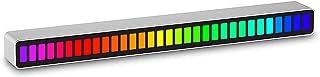 POPQ Atmosphère de Voiture à LED, RGB Activé par la Voix 32 Couleurs LED Ramassage de Lumière Rythmique Musique Atmosphère...