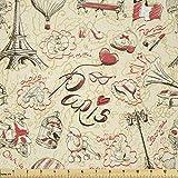 Lunarable Paris-Stoff von The Yard, Französische Kultur