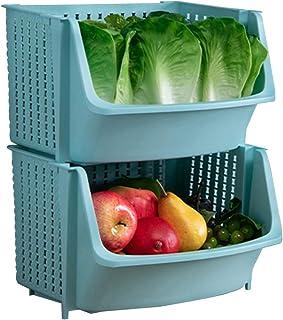 HLYT-0909 Boîte de Rangement Étendoir de Cuisine, Plancher de Stockage de légumes Multicouches Multi-Couches, Balcon de Bu...