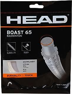 Head Boast 65 Badminton Racquet String, 10m (Orange)