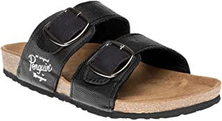 Penguin Mens Port Slides Sandals Black