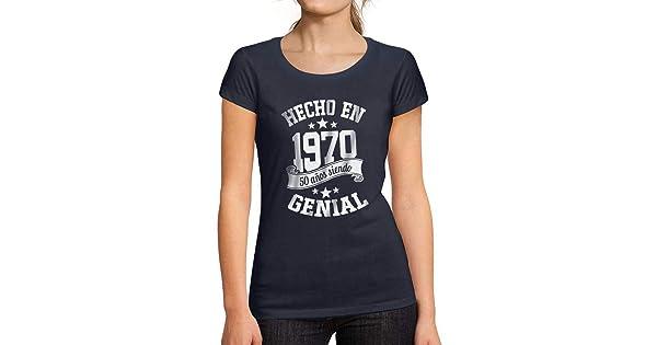 Ultrabasic/® Camiseta de Manga Corta de Mujer Hecho en 1970 50 a/ños de ser Impresionante Camiseta