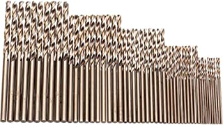 Hymnorq Metric M35 Cobalt Steel Extremely Heat Resistant Twist Drill Bits with Straight Shank Set of 50pcs in 5 Sizes(1, 1...