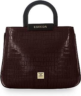 ESBEDA Brown Color Glossy shell Lightweight Handbag For Women
