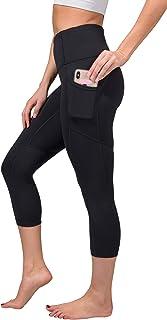 High Waist Squat Proof Yoga Capri Leggings with Pockets...