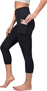 High Waist Squat Proof Yoga Capri Leggings with Pockets...