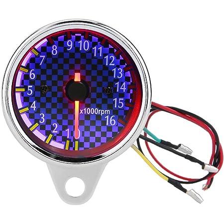 Outbit Drehzahlmesser Dc 12v Universal Motorrad Led Hintergrundbeleuchtung Drehzahlmesser Elektronische Drehzahlmesser Anzeige Garten