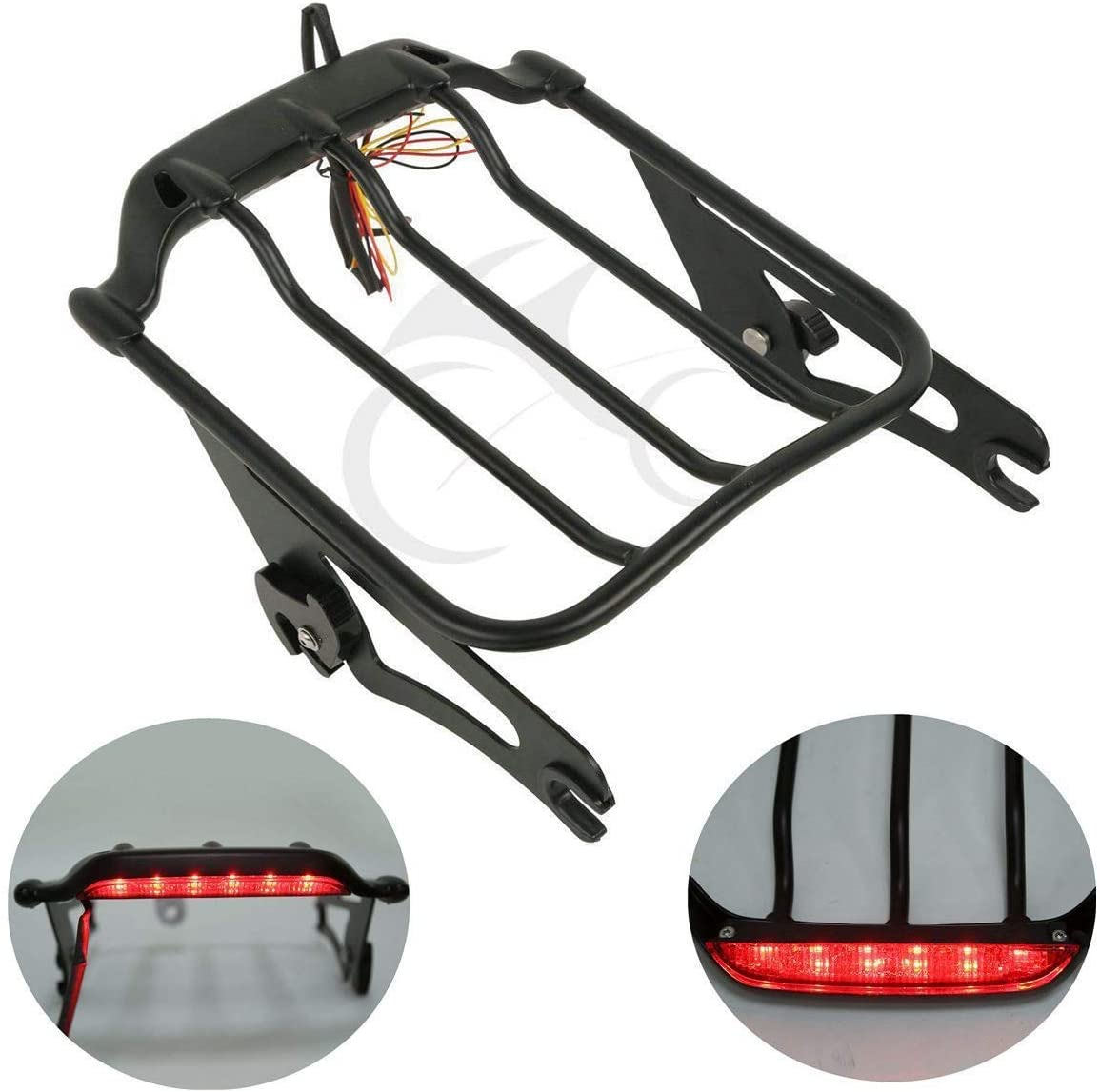 XFMT Black Detachable store Two-Up Luggage Rack Light LED New mail order Harle W for