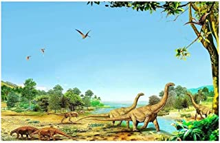 JCCOZ-URG Jurassic Era Long-necked Dragon Puzzle - 300/500/1000/1500 Piece Wooden Decorative Paintings (Size : 1000pcs) JC...