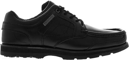 Kangol Harrow Chaussures en Cuir à Lacets pour Homme Noir