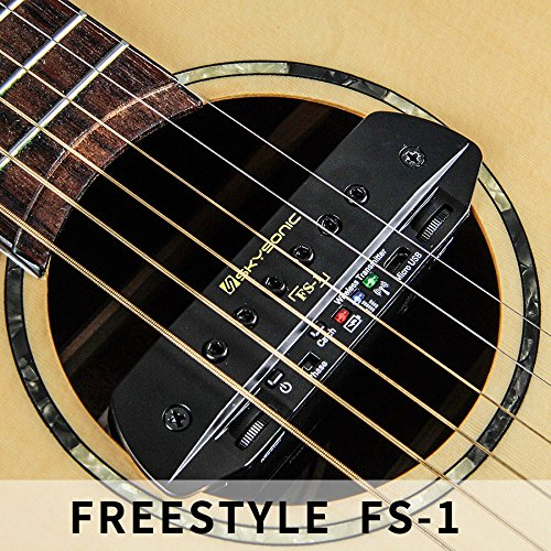 Skysonic Wireless Pickup FS-1 Acoustic Guitar Sound Hole Pickup Free Hole Wireless Transmission Wireless pickup, wireless transmission, dual pickup, with playing board