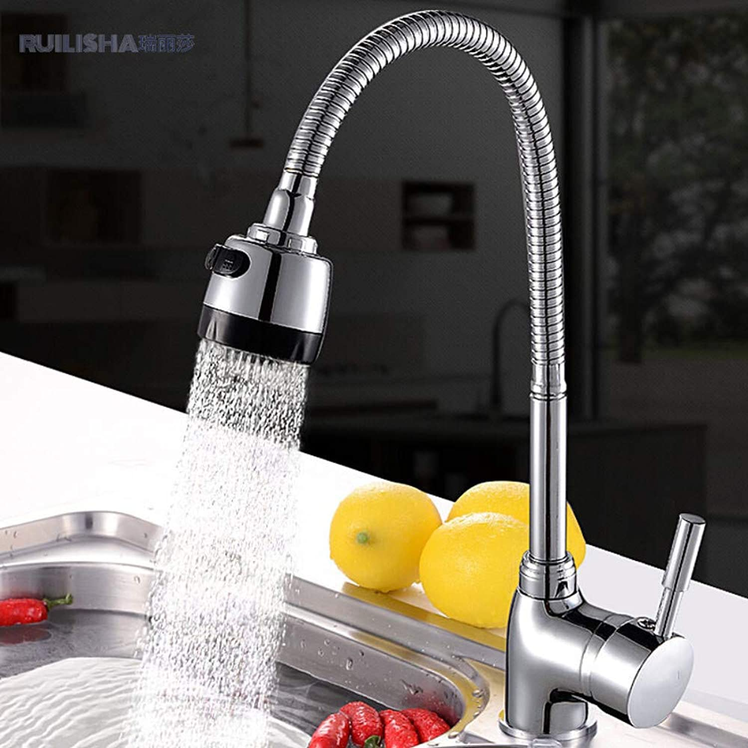 Kitchen Faucet Universal 360 Degree redatable Hot and Cold Sink Faucet Sink Sink Faucet