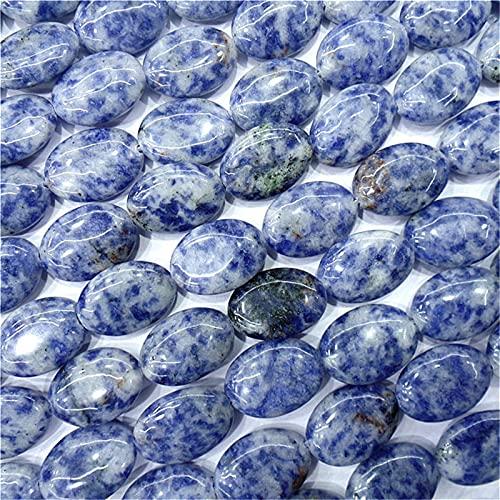JIANGFBH Cristal Natural Rugoso 1 Strand / 22pcs 18x13x6mm al por Mayor Natural Blue Sodalito Oval Perradas Sueltas DIY Accesorios de joyería Hechos a Mano S792