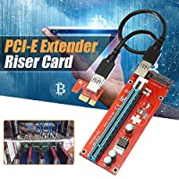 VER007 1x To 16x Extender Riser Card Adapter Power BTC Cable for Bitcoin Miner with USB 3.0 Wire for Bitcoin Miner