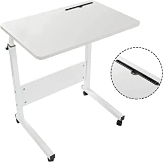 GRANDMA SHARK 80 × 40 cm Laptop Table for Sofa or Bed, Laptop Desk, Standing Height Adjustable Computer Desk, Portable Sid...