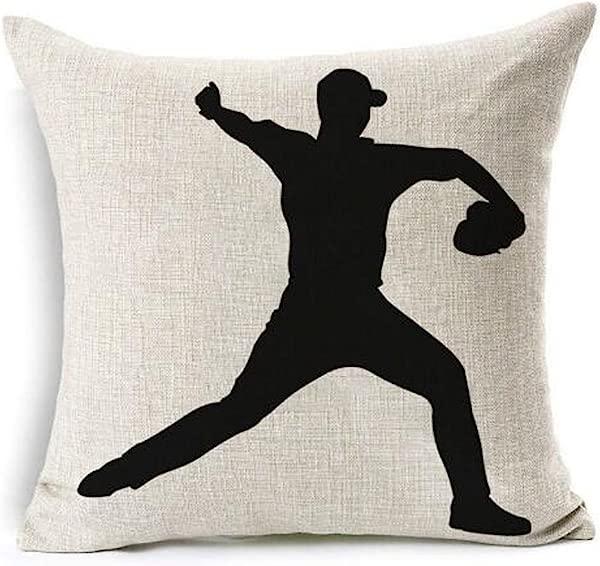 Baseball Club Community Team Athlete Lovers Gift Cotton Linen Throw Pillow Case Cushion Cover Home Sofa Balcony Decorative 18 X 18 4