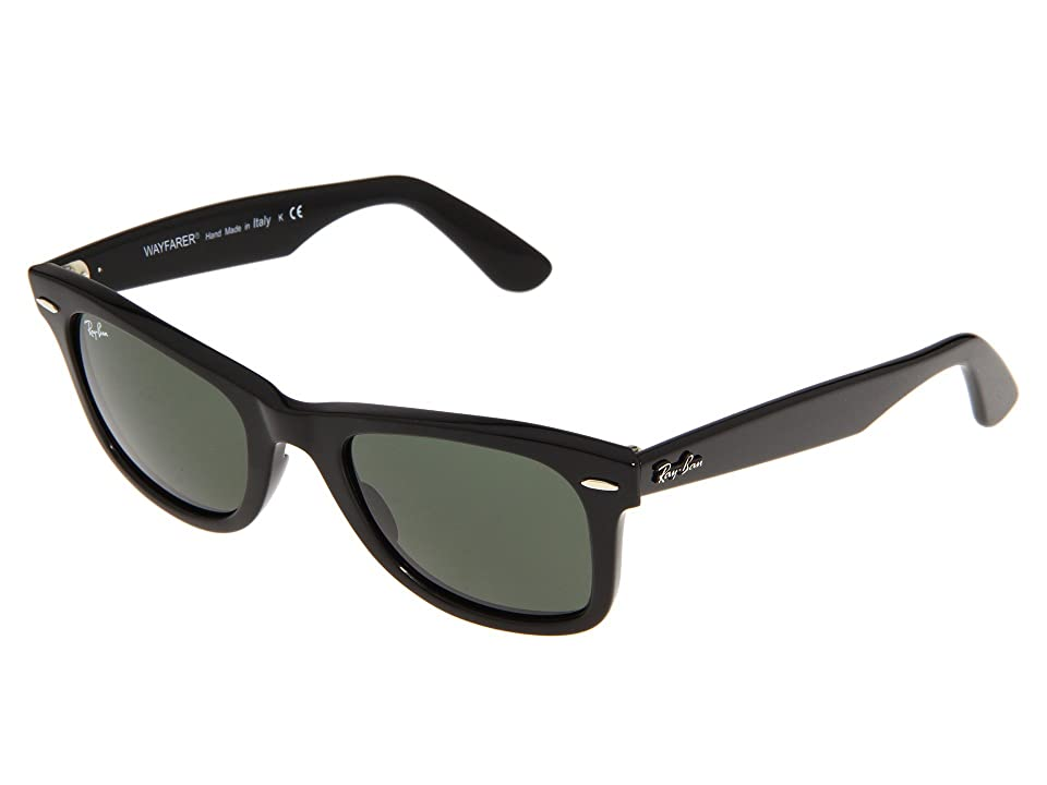 Ray-Ban RB2140 Original Wayfarer 50mm (Black/G-15xlt Lens) Plastic Frame Fashion Sunglasses