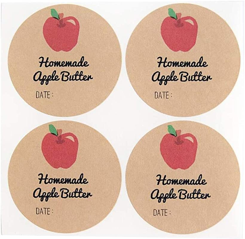 Homemade Apple Butter Labels By Once Upon Supplies Canning Labels 2 Inches Size For Regular Mouth Mason Jars 40 Pcs
