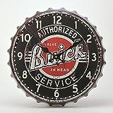 (キーストーン) KEY STONE ティンサインクラウンクロックラージ 時計 掛け時計 置き時計 ヴィンテージ レトロ おしゃれ TISICL (ビュイック) [並行輸入品]