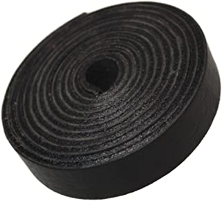 TOFL Leather Strap Black 5/8 Inch Wide and 72 Inches Long