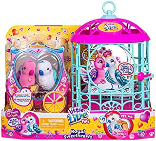 little lives New Pets Royal Sweethearts Love Birds with Cage - Two New Birdie Best Friends!