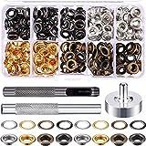 XUBX 150 Kit de herramientas de ojetes del los ojales, Ojetes Metalicos 10mm Kit de Herramienta de Ojetes Ojales, Set Ojetes Metalicos, Ojales Metalicos para DIY Zapatos Manualidad Ropa Bolsa