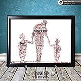 Familia Palabras Arte Pster para Cualquier Pap, de Padre Tarjeta Da o Regalo Navidad, Marco de Fotos, Pster Actualizaciones Disponible