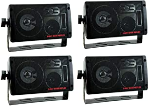 4) NEW PYRAMID 2060 600W 3-Way Car Audio Mini Box Speakers Stereo Indoor System
