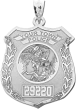 police badge pendant necklace