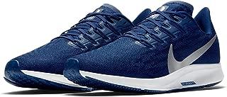Nike Air Zoom Pegasus 36 Men's Running Shoe Blue Void/Metallic Silver-Coastal Blue Size 9.5