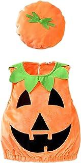 Newborn Baby Boys Girls Halloween Cute Pumpkin Ghost Romper Jumpsuit Kids Toddler Infant Smile...