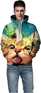 3D Novelty Hoodies VigorY㉿ Unisex Graphic Patterns Print Galaxy Hoodies Pullover Sweatshirt Pocket Christmas Halloween
