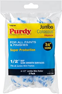 Purdy 140624033 Jumbo Mini Colossus Roller Replacements, 2-Pack, 4-1/2 inch x 1/2 inch nap