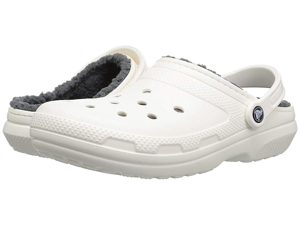Crocs Classic Lined Clog (White/Grey 2) Clog Shoes