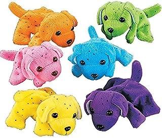 Fun Express Bulk Neon Dogs Plush (1 Dozen), Assorted Colors