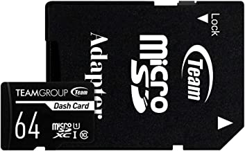 TEAMGROUP Dash Card 64GB for Dash Cam MicroSDXC UHS-I U1 High Compatibility Flash Memory Card with Adapter for Outdoor, Sports, Full HD Shooting TDUSDX64GUHS03