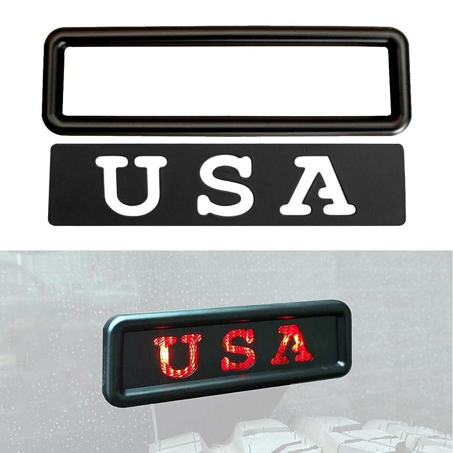 Allinoneparts USA Set Third Brake Light Cover Decal Accessories Set for Jeep Wrangler JK JKU 2007 2008 2009 2010 2011 2012 2014 2013 2014 2015 2016 2017 2018