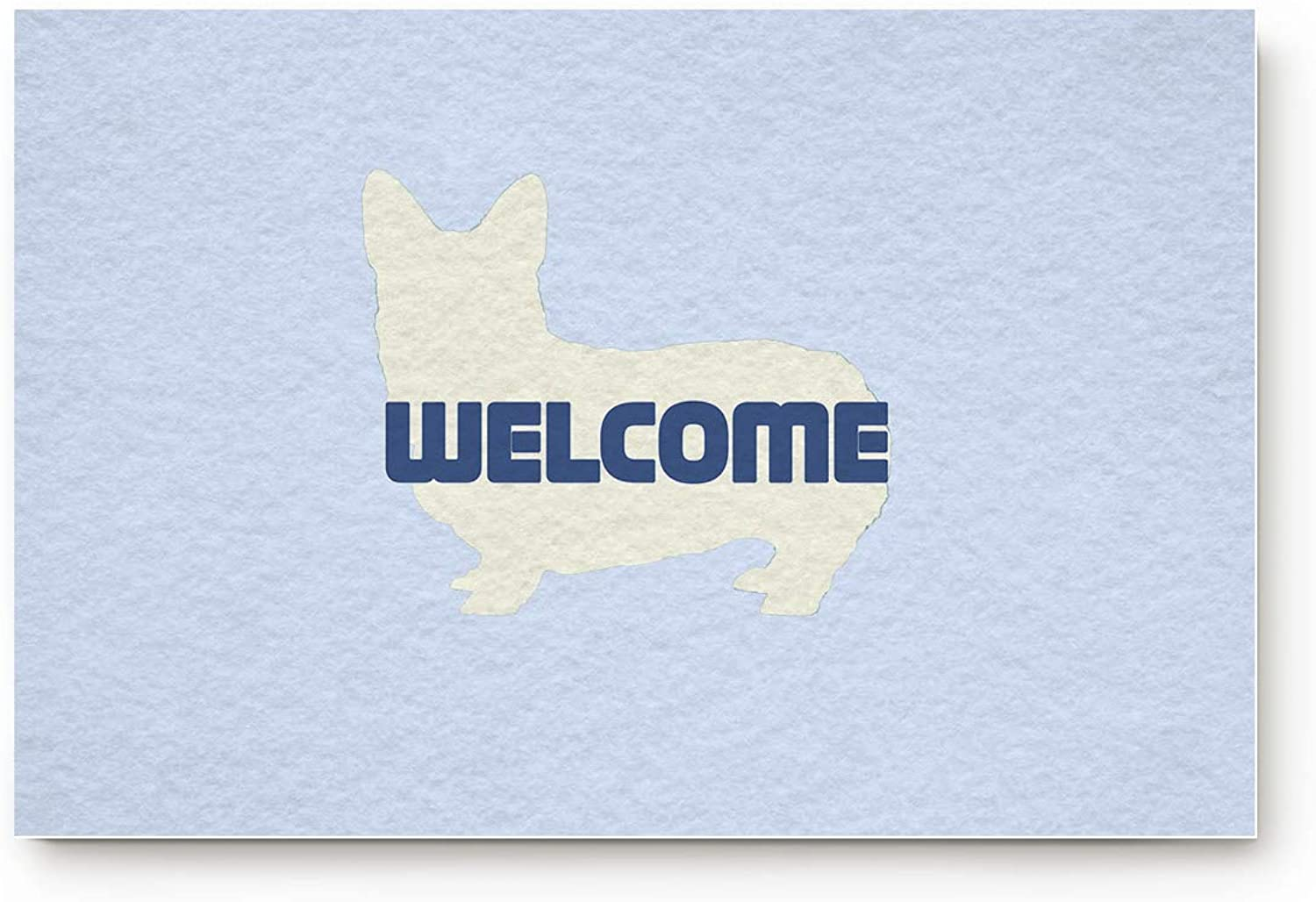 TweetyBed Cute Corgi Outline Welcome Decorative Door Mat with Non Slip Backing Entrance Mat Floor Rug for Entry Patio Indoor Front Door Bathroom 20 x31.5