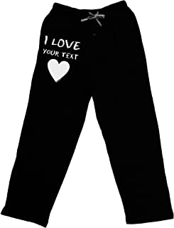 Personalized I Love Customized Adult Lounge Pants