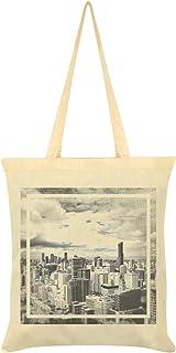 City Skyline Tote Bag Cream 38x42cm